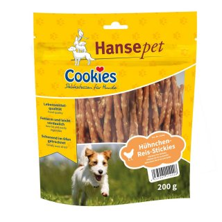 Cookies Hühnchen-Reis-Stickies 200g